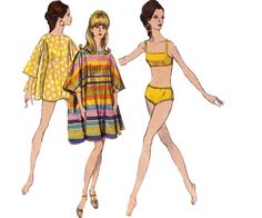 60s Bikini Swimsuit & Cover Up Pattern by allthepreciousthings