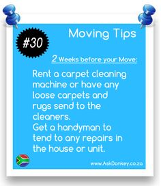 #MovingTips: 2 Weeks before the #Move: it's time to start cleaning & fixing.