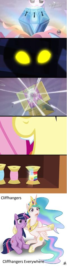 Season 4 Cliffhangers (did JMS start writing MLP)