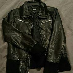 Nixon faux leather jacket Used once like new Nixon faux leather jacket.  Will to trade. Nixon Jackets & Coats