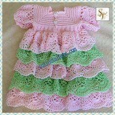 VENICE Dress Crochet Baby Christening Dress Baby by SuziesTalents