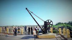 Guindaste utilizado para levar a turbina e os geradores para a Usina Hidrelétrica de Angiquinho (Atualmente desativada)