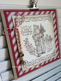 """Christmas Greetings, """"Father Christmas"""" Stampin' Up!"""