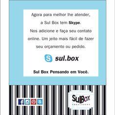 Sul Box, também no Skype!  #Skype #sulbox #sulboxemabalgens #luxury #concept #house #papelariafina #style
