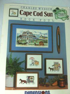Wysocki Cape Cod Summer Cross Stitch Patterns Leaflet Dimensions Horses 1986 #Dimensions