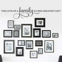 The Love of a Family Wall Quote 2 $22.00 www.decalmywall.com