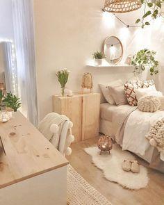 Teen Bedroom Designs, Cute Bedroom Ideas, Room Ideas Bedroom, Home Decor Bedroom, Bedroom Wall, Small Girls Bedrooms, Teenage Girl Bedrooms, Teenage Room, Aesthetic Room Decor