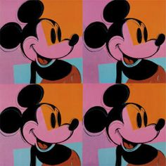 mickey mouse | Mickey Mouse by Andy Warhol Art Print - WorldGallery.co.uk