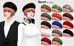 [beret for unisex.]DOWNLOAD/MediaFirecategory/hat.mesh by me.You can use it as you want.please enjoy it.色追加したり直したりなんでもお好きなようにお使いください。thank you for CC creator :)