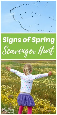 Signs of spring scavenger hunt for kids - Teach your kids about the spring with this fun and educational science learning activity! Get outside to study nature and the changing seasons today!
