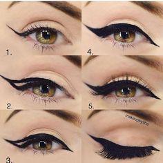 Trendy Eye Makeup Tutorial Step By Step Huda Ideas - - Trendy Eye Makeup Tutorial Step By Step Huda Ideas Make Up Eye Makeup Steps, Natural Eye Makeup, Makeup Tutorial Eyeliner, Makeup Eyeshadow, Eyeshadows, Makeup Inspo, Makeup Tips, 50s Makeup, Crazy Makeup