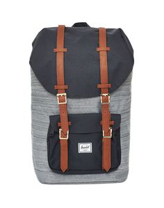 Herschel Little America Backpack, Black & Grey. MINE.