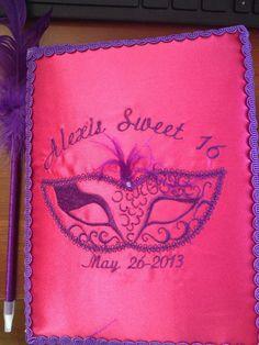 Guest Book  Alexis Sweet 16 Masquerade Ball Ideas Pinterest cakepins.com