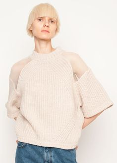 #newarrivals #Rodebjer #wool #oat #cream #juliette #cutout #sweater #thefrankieshop #frankienyc #frankiegirl Super Soft, Mock Neck Cable Knit w/Graphic Netting Cut Outs Elbow Length Sleeve 100% Merino Wool Hand Wash By Rodebjer