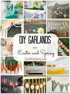DIY spring garlands