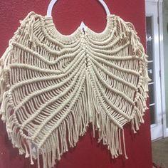 Angel Wings Pattern/Tutorial   Etsy Dream Catcher Patterns, Singles Twist, Free Message, Heart Frame, Angel Wings, Macrame, Create Yourself, Projects To Try, Etsy