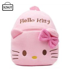 196696c2c082 Children Cartoon Hello kitty Plush School Bags Girls Boy Toddler Backpack  Schoolbag Kids Baby Kindergarten Girls