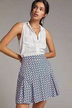 New Clothing for Women | Anthropologie Irish Warrior, Warrior Queen, Cute Skirts, Mini Skirts, Pleated Mini Skirt, 50 Fashion, Petite Size, New Outfits, Summer Dresses