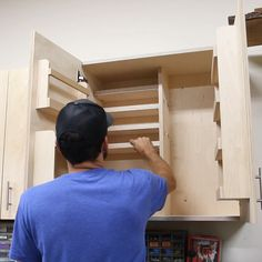 Need more workshop storage in your garage shop? Learn how to build these DIY wall cabinets and take your workshop organization to the next level. These are part of my DIY Garage Cabinets System. Woodworking Shop Layout, Woodworking Furniture Plans, Woodworking Projects Diy, Diy Furniture, Woodworking Workshop, Woodworking Techniques, Woodworking Tools, Woodworking Equipment, Furniture Websites