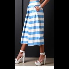Satin culottes Stripe satin culottes  wear these for any occasion. Just came in the mail today too small for size M beautiful statement piece Pants Wide Leg