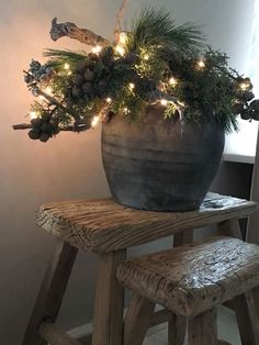 Weihnachten 2018 - New Ideas Natural Christmas, Christmas Makes, Green Christmas, Winter Christmas, Christmas Time, Christmas Crafts, Christmas Greenery, Rustic Christmas, Christmas 2018 Trends
