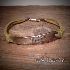 Handmade Leather Spoon Bracelet Silverware Jewelry by Hodgepodgewelry on Etsy