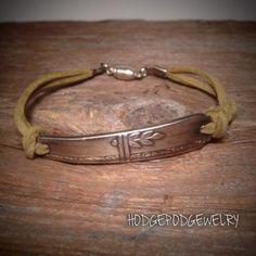 Handmade Leather Spoon Bracelet Silverware Jewelry by Hodgepodgewelry on Etsy