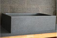 Évier de cuisine Sous plan en granit véritable 70x47 - WALABI