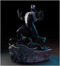 Marvel Comics Art, Marvel Comic Books, Comic Books Art, Comic Art, Book Art, Ao No Exorcist, Blue Exorcist, Black Spider, Spiderman Art