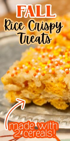 These Rice Krispie Treats have a little twist and I think they are a perfect treat when you want a little something sweet! Check out my Fall Rice Krispie Treats idea that introduces a second cereal to create a wonderful flavor! Summer Drink Recipes, Best Dessert Recipes, Fun Desserts, Fall Recipes, Most Popular Recipes, Amazing Recipes, Delicious Recipes, Favorite Recipes, Dessert For Dinner