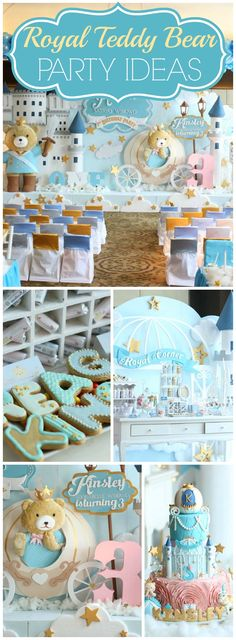 You have to see this prince and princess teddy bear party! See more party ideas at CatchMyParty.com!