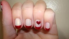 The picture above are my nails......the valentine nails I am sporting this week....will probably changing to pink for my Valentine's dat...