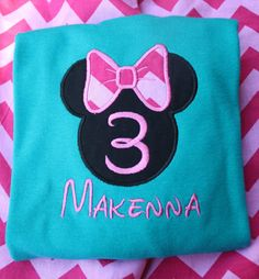 Mini Mouse applique t-shirt on Etsy, $18.00