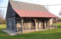 The Alva Kepler Log Cabin, rebuilt and moved to Manistique. Photo courtesy Lee Ekblad