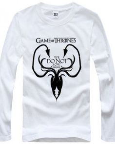 House Greyjoy cheap tshirt long sleeve for men with We Do Not Sow Game of Thrones t shirt