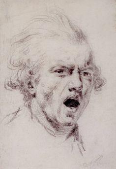 Sir Joshua Reynolds, Self Portrait as a Figure of Horror, c. 1784
