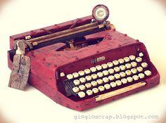 Scrap in Progress: Altered vintage typewriter!!