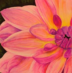Abstract flower close up. Chalk pastel. CC.
