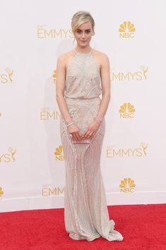 Art Deco Zuhair Murad for the 2014 Emmys - Style Crush: Taylor Schilling on the Red Carpet - Photos