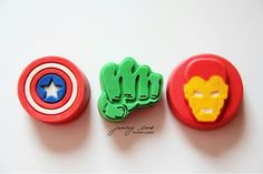 Avengers Chocolate Covered Oreos - Captain America, Hulk and Iron Man