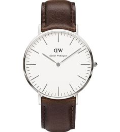 DANIEL WELLINGTON 0209DW Bristol stainless steel and leather strap 179