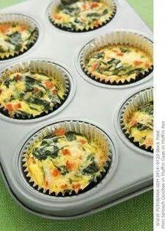 Mini omellet cupcakes