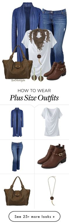 """""""Curvy Woman - Plus Size"""" by ginothersyde on Polyvore featuring Old Navy, TravelSmith, Lucky Brand, Black Rivet, DAY Birger et Mikkelsen and 337"""