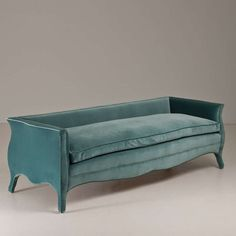 A Bespoke Sofa Upholstered in a Teal Velvet by Talisman | From a unique collection of antique and modern sofas at http://www.1stdibs.com/furniture/seating/sofas/