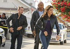 Chris O'Donnell, LL Cool J and Daniela Ruah in NCIS: Los Angeles