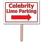 Props: Hollywood Star Attraction Celebrity Limo Parking Sign (each)