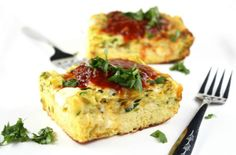 Zucchini and Green Chile Breakfast Casserole #OurLifeinFood