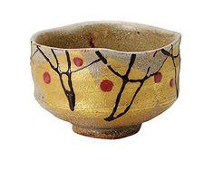 Kutani tea bowl gilt Hanabun Kokuzo kiln size diameter 10.3cm ~ 7.6cm high wooden box * Be sure to check out this awesome product.