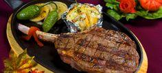 comida tipica de chihuahua, carne de res con papa asada