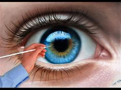 How To Draw a realistic Eye painting in dry brush (Speed Drawing) malen zeichnen How to paint a eye in Oil dry brush technique. I am Stefan Pabst and i am a portrait painter and prefer the dry brush technique. Portraits in dry brush looks. Painting Videos, Painting Tips, Painting & Drawing, Dry Brush Painting, Painting Lessons, Realistic Eye Drawing, Guy Drawing, Drawing Eyes, Eye Drawings